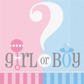 Servetten Girl or Boy - 20 stuks