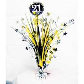 Glitterfeest 21 Jaar Tafeldecoratie - 46cm