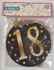 18 Jaar Gold Party Vlaggenlijn