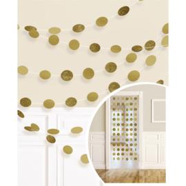 Gouden Glitter Hangende Streng Decoraties
