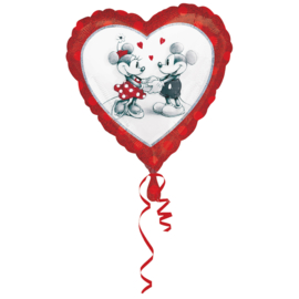 Folieballon Mickey & Minnie Love - 45 cm