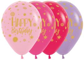 Ballonnen Happy Birthday Sparkles Party (1st)