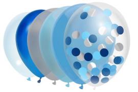 Ballonnen Mix Sky Blue - 10 stuks