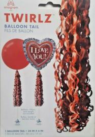 Ballonnen staart rood