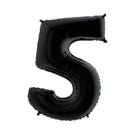 Cijfer 5 Zwart 100 cm