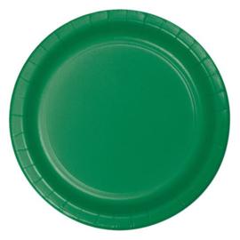 Bordjes emerald green (Ø23cm, 8st)