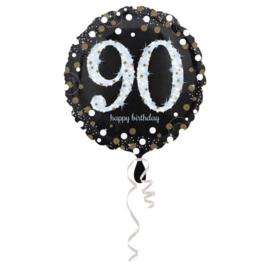 Folieballon birthday sparkling 90 (45cm)
