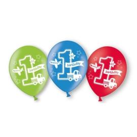 Latex Ballonnen 1 jaar 6 Stuks Auto