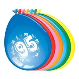 Latex Ballonnen 95 jaar 8 Stuks