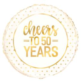 """Folieballon """"Cheers to 50 years"""" - 45 cm"""