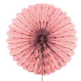 Honeycomb Waaier Baby Roze - 45cm