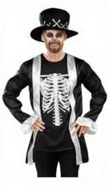 Halloweenkostuum 2-delig Koning Heren Zwart