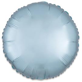 Folieballon rond satin pastelblauw 43cm