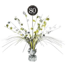 Glitterfeest 80 Jaar Tafeldecoratie - 46cm