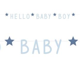"""Letterslinger Blue Stars """"Hello Baby Boy"""""""