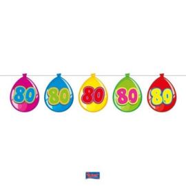 Vlaggenlijn Balloonshape 80 jaar
