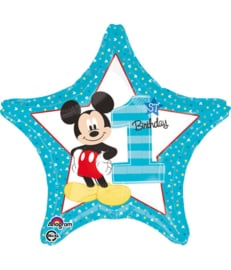 Folieballon Mickey '1st Birthday' - 45 cm