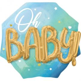Oh Baby Boy Blue - 3D Effect - 30 inch / 76 cm