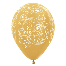 Ballon Filigree Metallic Gold (1st)
