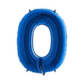 Cijfer 0 Blauw 100 cm