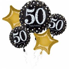 Folieballonnen boeket 50 Jaar Sparkling