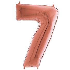 Cijfer 7 Rosé Goud - 66 cm