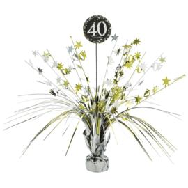 Glitterfeest 40 Jaar Tafeldecoratie - 46 cm