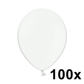 Pastel Wit 100 Stuks