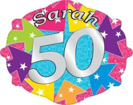 Kroonschild Sarah 50 jaar