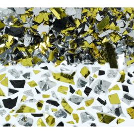Confetti Glitters Goud/Zwart/Zilver - 70 gram