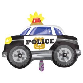 Folieballon JuniorShape Politieauto - 60 cm