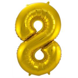 Cijfer 8 Goud 86 cm
