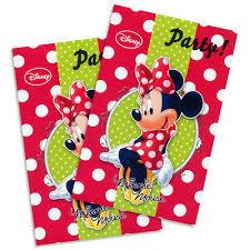 Minnie Mouse Uitnodigingskaarten - 6 Stuks
