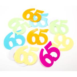 65 Jaar Tafelconfetti XL