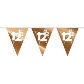 Vlaggenlijn 12,5 Brons/Wit