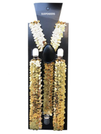 Bretels Pailletten Goud / One-size