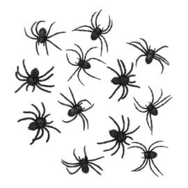 Spinnen zwart (12st)