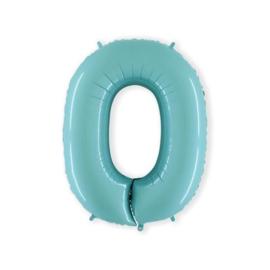 Cijfer 0 Licht Blauw - 100 cm