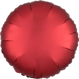 Folieballon rond satin sangria - 43 cm