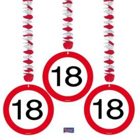 Hangdecoratie Verkeersbord 18