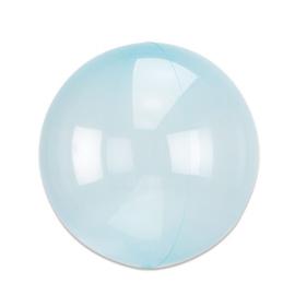 Folieballon Clearz Blauw (38x40cm)