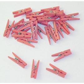Roze knijpers - 24 stuks