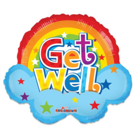 Folieballon 'Get Well' Rainbow - 46 cm