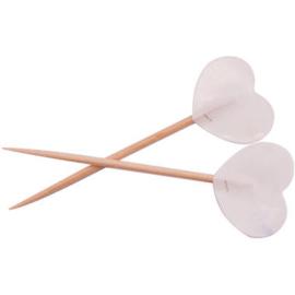 Prikkers witte hartjes - 50 stuks