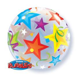 Folieballon Bubble Brilliant Stars - 56 cm
