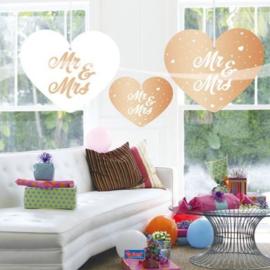 Bruiloft Rosé Goud Hangdecoratie - 5 st