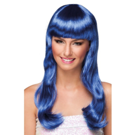 Pruik Chique Blauw