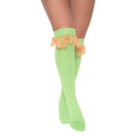 Sokken over-knee fluor groen
