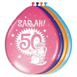 Ballonnen Abraham 50 jaar Ster Lucht 8 Stuks