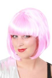 Pruik sensation bobline licht roze